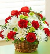 Fields of Europe Christmas Basket Christmas Flowers