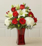 Fields of Europe™ Christmas in Red Vase Arrangement
