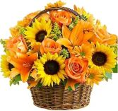 FIELDS OF EUROPE FLOWERS  BASKET