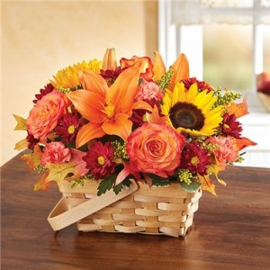 Fields of Europe for Fall Basket Fall Arrangement
