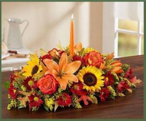 Warm Fall Centerpiece Item# 91926L in Arlington, TX | Erinn's Creations Florist