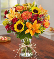 Fields of Europe for Fall Vase Arrangement