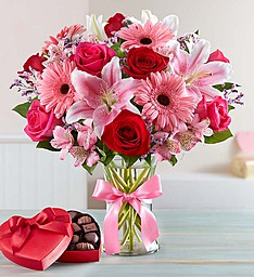 Fields of Europe Romance with Choclate Mixed Flowers