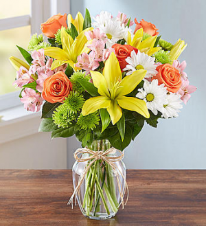 Fields of Europe Vase Arrangement in Sunrise, FL | FLORIST24HRS.COM