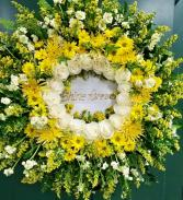 Fields of Gold Funeral Wreath