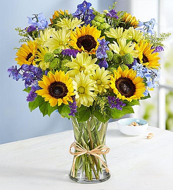 fields of summer floral arrangement