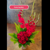 Fiery Farewell  Funeral Flowers