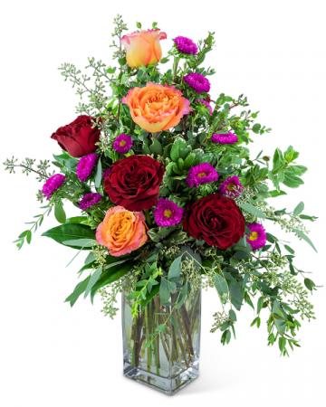 Fiery Flamenco Flower Arrangement