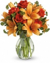 Fiery Lily & Roses