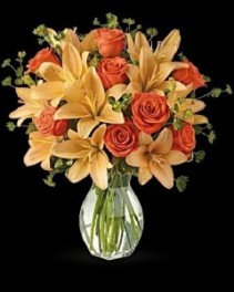 Fiery Lily Vase Arrangement