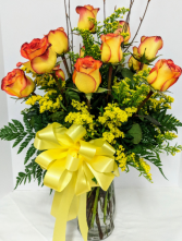 Fiery Love Roses in Douglasville, Georgia | The Flower Cottage & Gifts, LLC