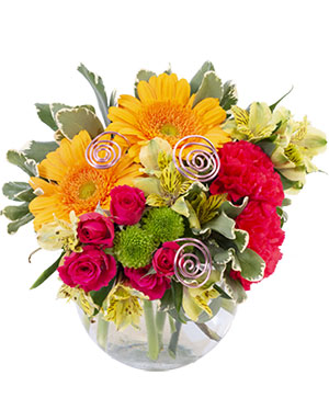 Fiery Pink Floral Design in Mobile, AL | FLOWER FANTASIES FLORIST AND GIFTS