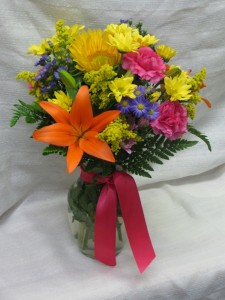 Fiesta Bouquet vase arrangement in Kitchener, ON | CAMERONS FLOWER SHOP