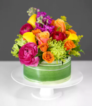 Color Explosion Cake Arrangement in Croton On Hudson, NY | Cooke's Little Shoppe Of Flowers