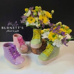 Fill Your Boots! Vase Arrangement in Kelowna, BC | Burnett's Florist