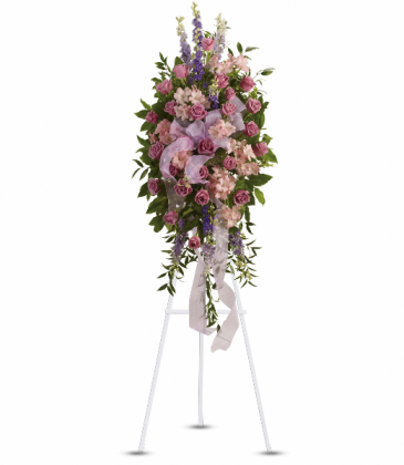 Finest Farewell Spray Standing Easel
