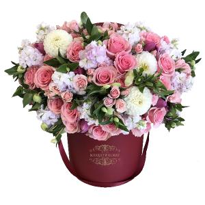 Fire and Desire Flower Box in Riverside, CA | RIVERSIDE BOUQUET FLORIST