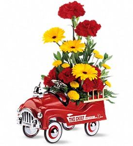 Fire Engine Bouquet Arrangement