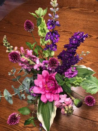 Firecracker fresh vase arrangement