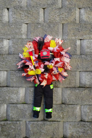 Firefighter Door Wreath Personalized wreaths