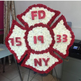 Firefighter Symbol Funeral Flowers Flowers For A Funeral -Badge Of A Fireman