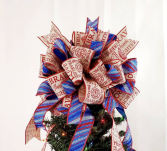 Firefighter Tree Topper Bow Tree Topper Bows