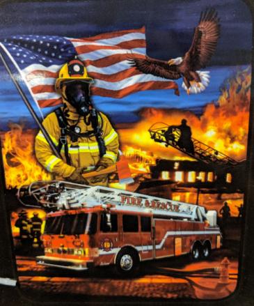 Firemen throw