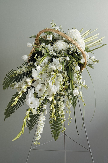 Fireside Basket Easel Funeral