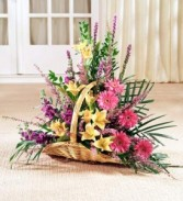 Fireside Basket of Color Fresh Floral Basket