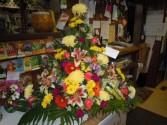 Fireside Mixed Flower (TB 31) Funeral Basket