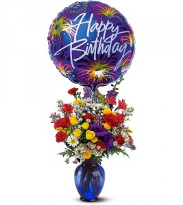 Fireworks for Birthday Arrangement in Dover, NH | SWEET MEADOWS FLOWER SHOP