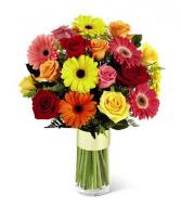 Fireworks of Flowers Vased Arrangement