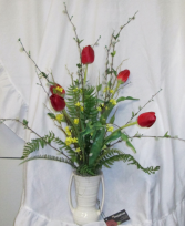 First Sign of Spring Vase Permanent Arrangement by Inspirations Floral Studio