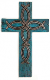 FISH HORSESHOE WALL CROSS