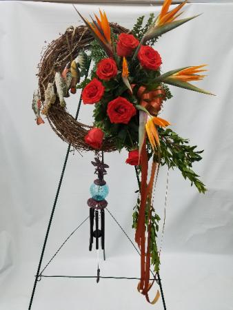 Athas 70 Fisherman Wreath Sympathy Wreath