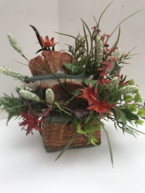 Fisherman's Basket Silk Arrangement