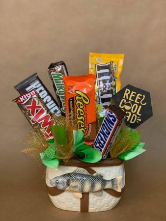 Fishin' In The Dark  Candy Bouquet