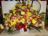 Fishing Mixed Flower (TB 26) Funeral Basket