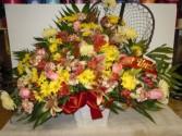 Fishing Mixed Flower (TB 26) Funeral Basket