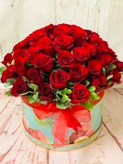 Flame of love  Flower box arrangement