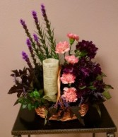 Flameless Candle Arrangement - AWF17B Call for Candle Options