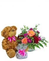 Flamenco Gift Ensemble Flower Arrangement