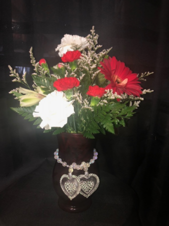 Flaming Hearts  Valentines Arrangement