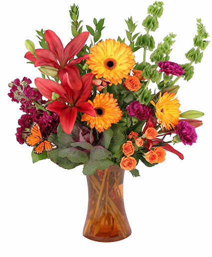 Flaming Lilies Floral Design