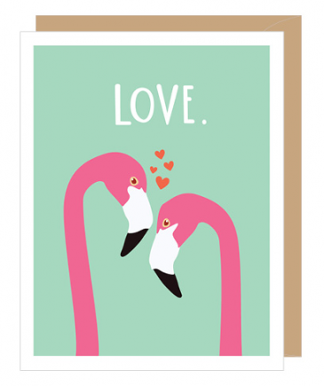 Flamingo Anniversary Greeting Card