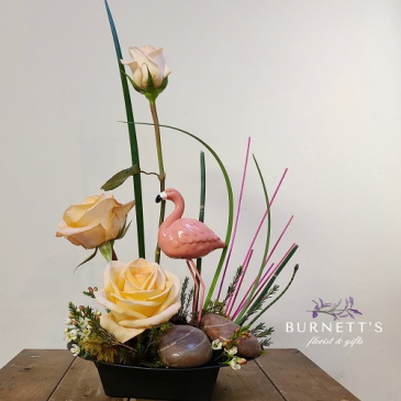 Flamingo Sunrise Arrangement
