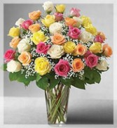 I LOVE YOU THIS MUCH!!!! 3 DZ. LONG STEM ROSES ARRANGED IN A VASE!