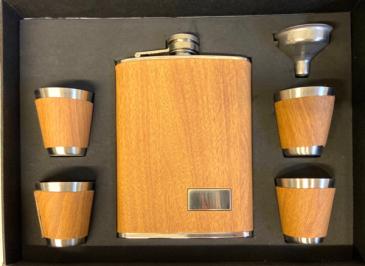 Light Grain 5 Piece Tall Flask Set