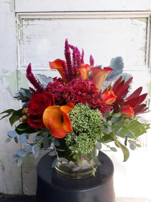 Flavors of Fall vase in Woburn, MA | HILLSIDE FLORIST INC.