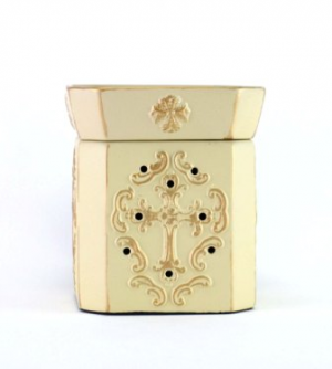 Fleur De Lis Brushed Gold Mixer Melt Warmer in Eagle Pass, TX | EVA'S FLOWER SHOP & GIFTS